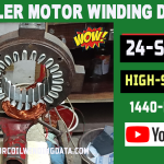 24 Slot Cooler Motor Rewinding With Aluminum Wire
