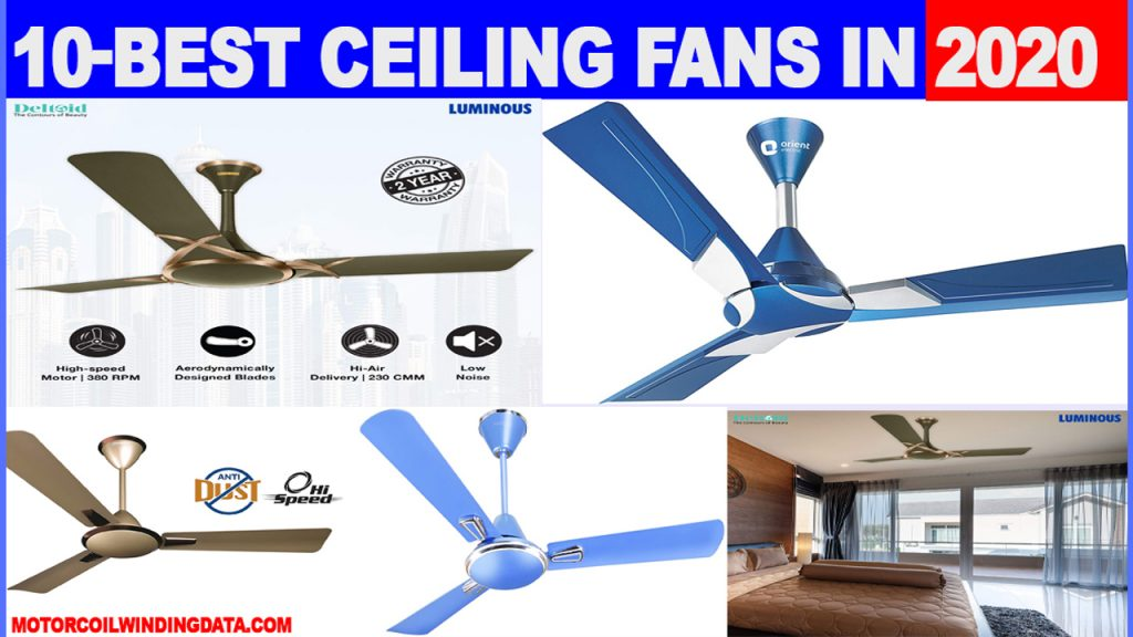 9 Best Ceiling Fans in india 2020 with price