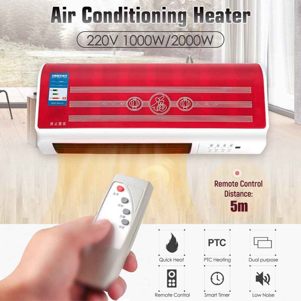 Inllex Cold and Warm Dual-Use Electric Heater Home Small Wall-Mounted Remote Control Top9 Best Blower Room Heater In India 2020 | Best Room Heter In India 2020.by Electricahome.com