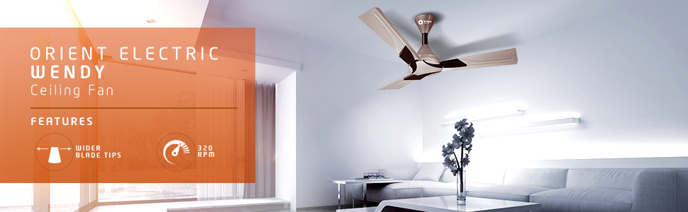 9 Best Ceiling Fans In India 2020.Top Nine Ceiling Fans In India With Price.Orient electric wendy 1200 mm ceiling fan