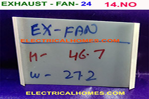 24 Slot Exhaust Fan Pvc Paper By ElectricalHomes.Com