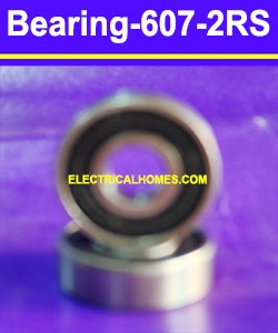 Buy 607 2RS Ball Bearing 7x19x6MM at 18rs by electricalhomes.com