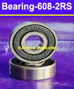 Buy 608 2RS Double Ball Bearings ( Chahal V2 ) 8x22x7 at very Low Price From Electricalhomes.com