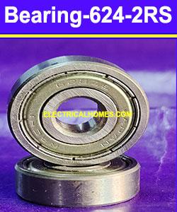 Buy 624 2RS Double Ball Bearing 4 mm ID, 13 mm OD, 5 mm Width, 2 Buna